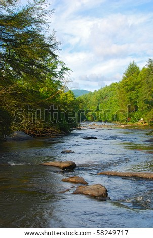 River scene in rural Georgia.