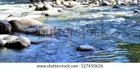 River scenery - stock photo