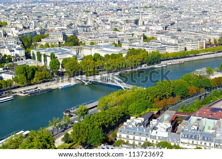 River Seine and Paris, France