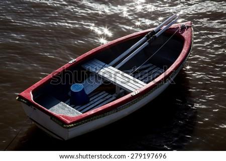 river skiff - stock photo