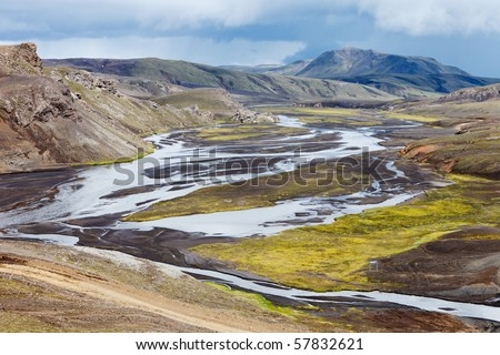River - Soutch Iceland - stock photo