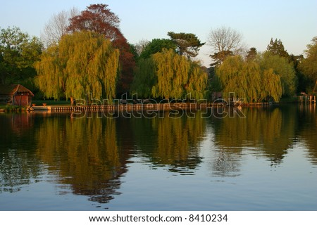River Thames At Cookham - stock photo