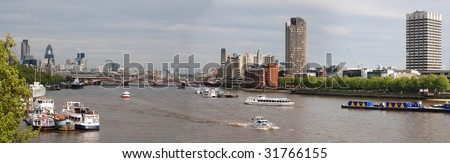 River Thames, London panorama - stock photo