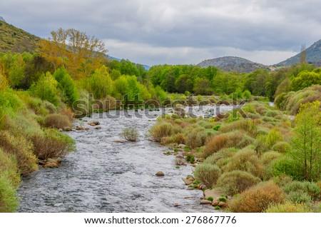 River Tormes in Sierra de Gredos, Avila, Castile and Leon, Spain - stock photo