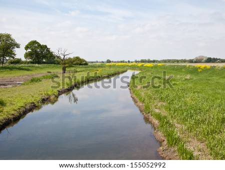 River torne in Auckley, Doncaster, England, UK - stock photo