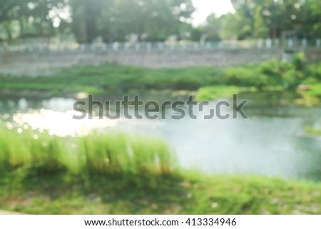 River View blur - stock photo