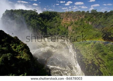River Zambezi under Victoria falls - stock photo