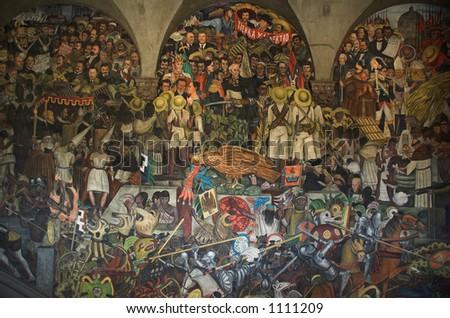 Rivera Mural Mexico - stock photo