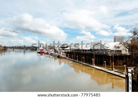 Riverfront at Old Sacramento, California