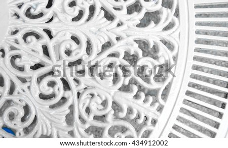 riveted old weathered rusty white metal background - stock photo