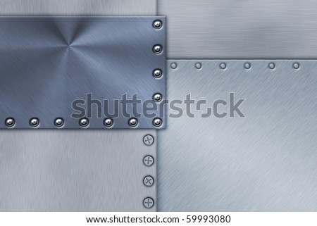 Rivets in sheets of steel