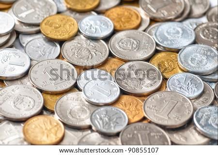 RMB (CNY) COINS - stock photo