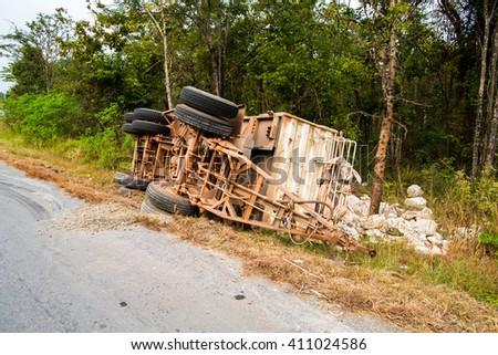 Road accidents. - stock photo