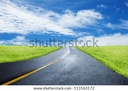 Road After Rain - stock photo