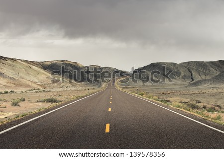 road and cloud - stock photo