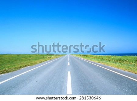 Road and sky - stock photo