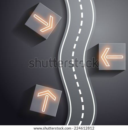 Road and traffic signs - stock photo
