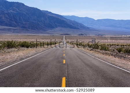 Road at Death Valley, CA - stock photo