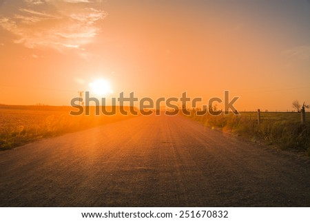 Road at dusk - stock photo