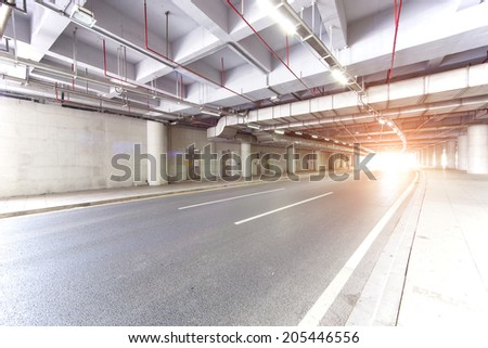 road at tunnel