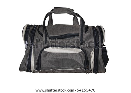 Road bag. Isolated on white background