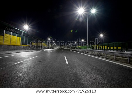 Road by night
