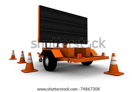 Road Construction Sign (Blank)