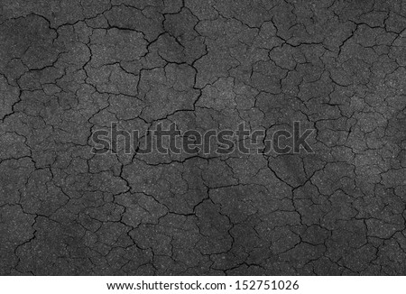 road crack texture - stock photo