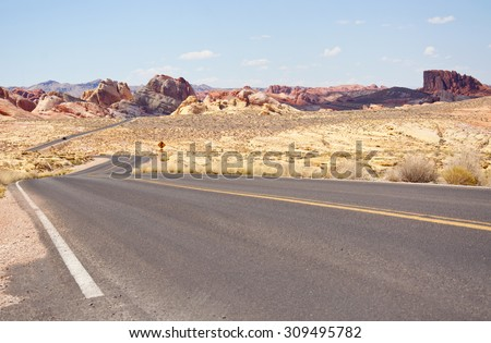 Road curve at the desert, USA