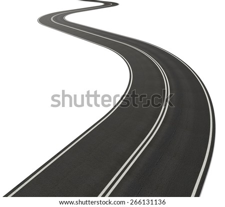 Road. 3D. Infinity road - stock photo