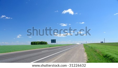 road disappearing for horizon - stock photo