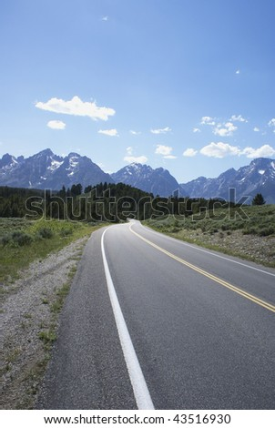 Road disappearing into the mountains