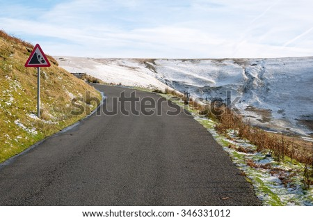 Road from the Elan Valley to Rhayader, Powys Wales UK. - stock photo