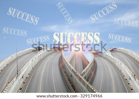 Road going to the tunnel ,Concept road to success. - stock photo