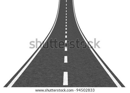 Road going up - stock photo
