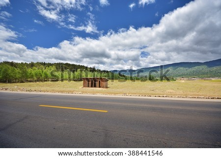 road in countryside - stock photo