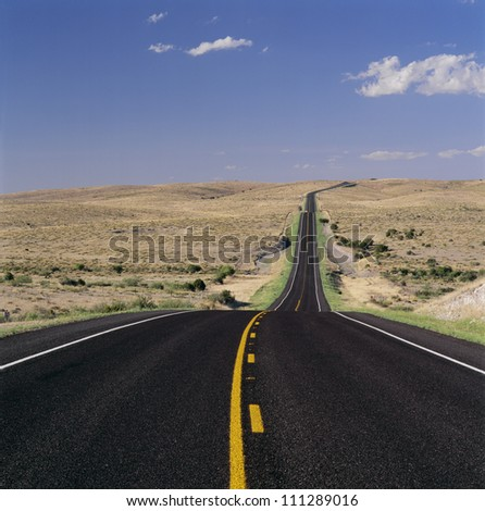 Road in Death Valley National Park, California, USA - stock photo
