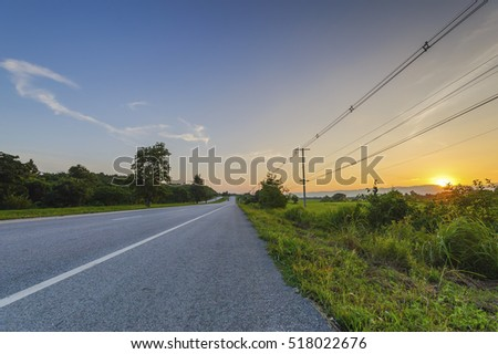 road in evening