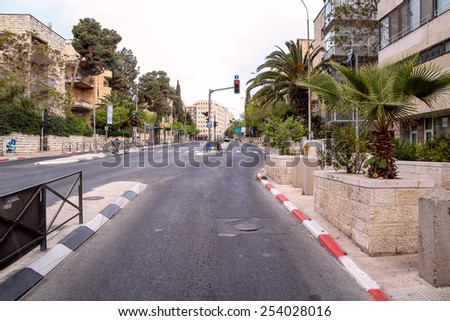 Road in Jerusalem, Israel - stock photo
