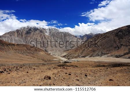Road in Ladakh, Jammu and Kashmir, India - stock photo