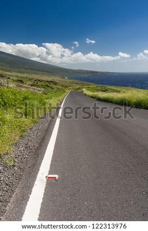 Road in Maui, Hawaii, USA. - stock photo