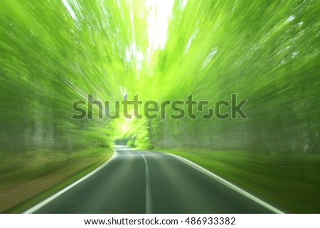 Road in motion blur