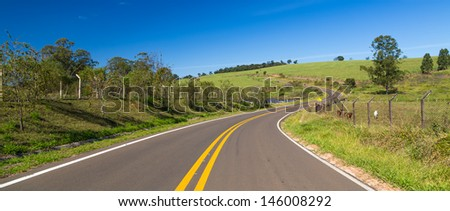 Road in South America - stock photo