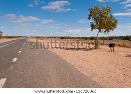 Road in the Australian outback, Northern Territory - stock photo