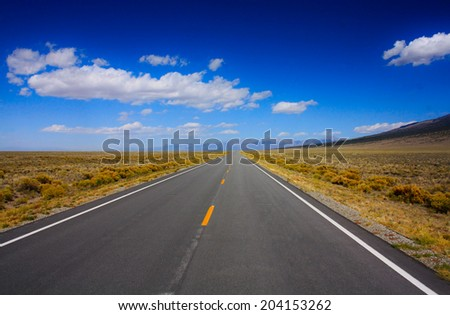 Road in the desert of Colorado. - stock photo