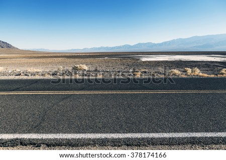 Road in the desert (Side View)  - stock photo