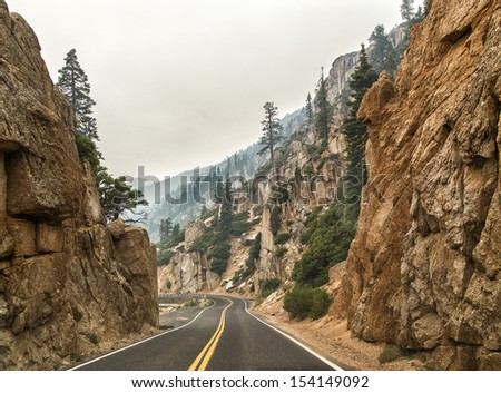 Road in the mountains
