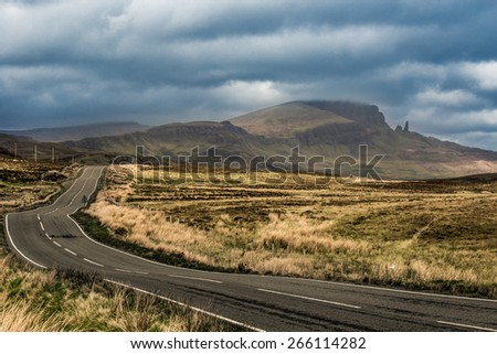Road isle of skye