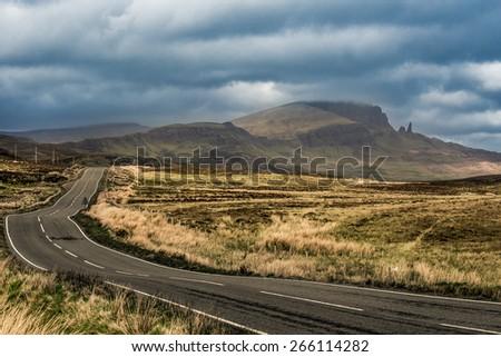 Road isle of skye - stock photo