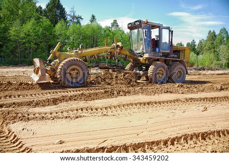 road machine to level ground